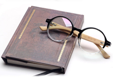 Round Frame Wooden Bamboo Eyeglasses