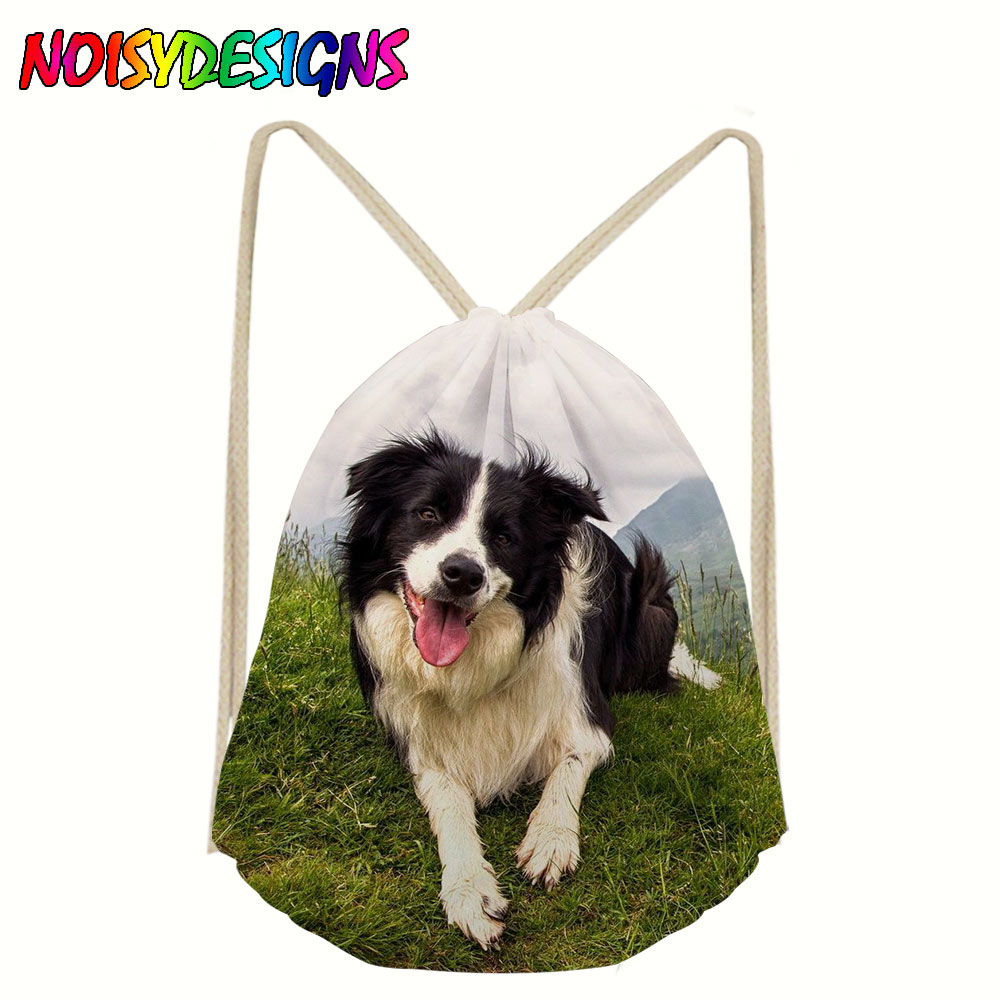 High Quality Drawstring Bag Beach Border Collie Travel Storage Package Pouch Swim Hiking Women Men Teenagers