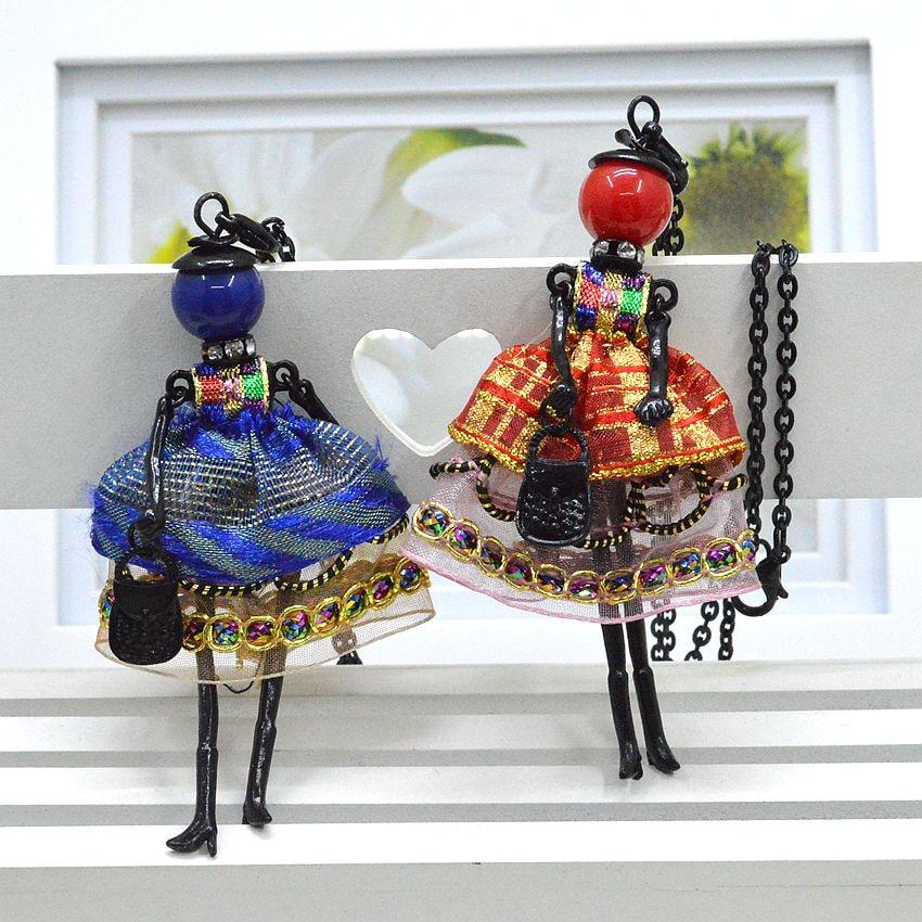 Най-новите модни кукли колие Колие - Модни бижута - Снимка 1