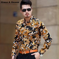 New arrival Spring 2017 mercerized cotton high quality long sleeve shirt America style fashion casual boutique men shirt M XXXL