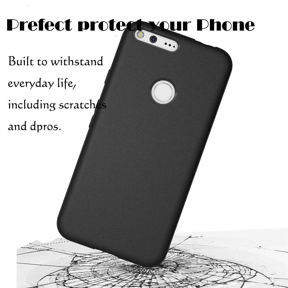 Ματ μαύρες θήκες για Google Pixel Anti-Scratches TPU - Ανταλλακτικά και αξεσουάρ κινητών τηλεφώνων - Φωτογραφία 2
