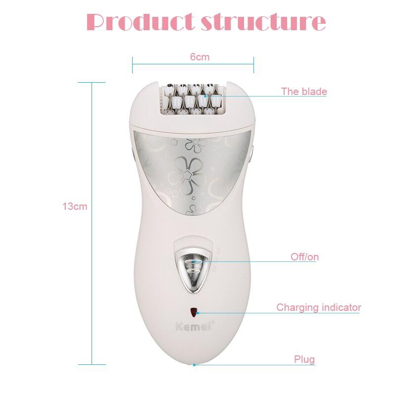 Kemei эпилятор, перезаряжаемый, 3 в 1, для леди, для удаления волос, электробритва, для удаления мозолей, депилятор, для женщин, инструмент для ухода за ногами