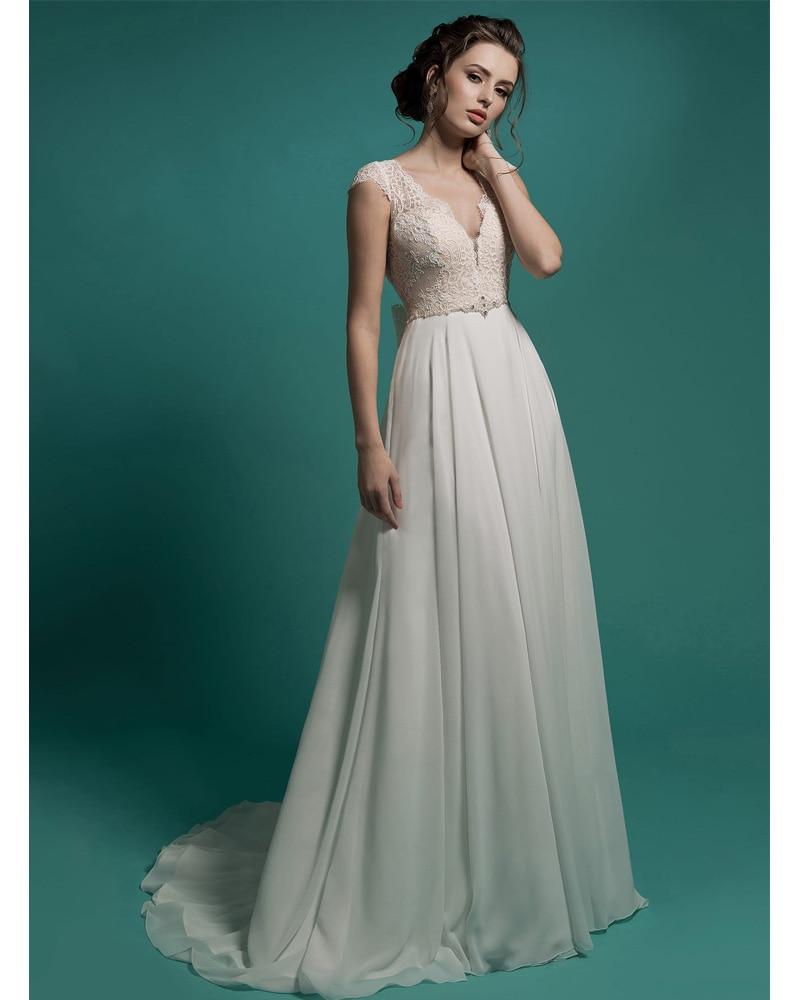 Vestidos De Noiva vestido de Novia Barato Boho V Cuello Griego ...