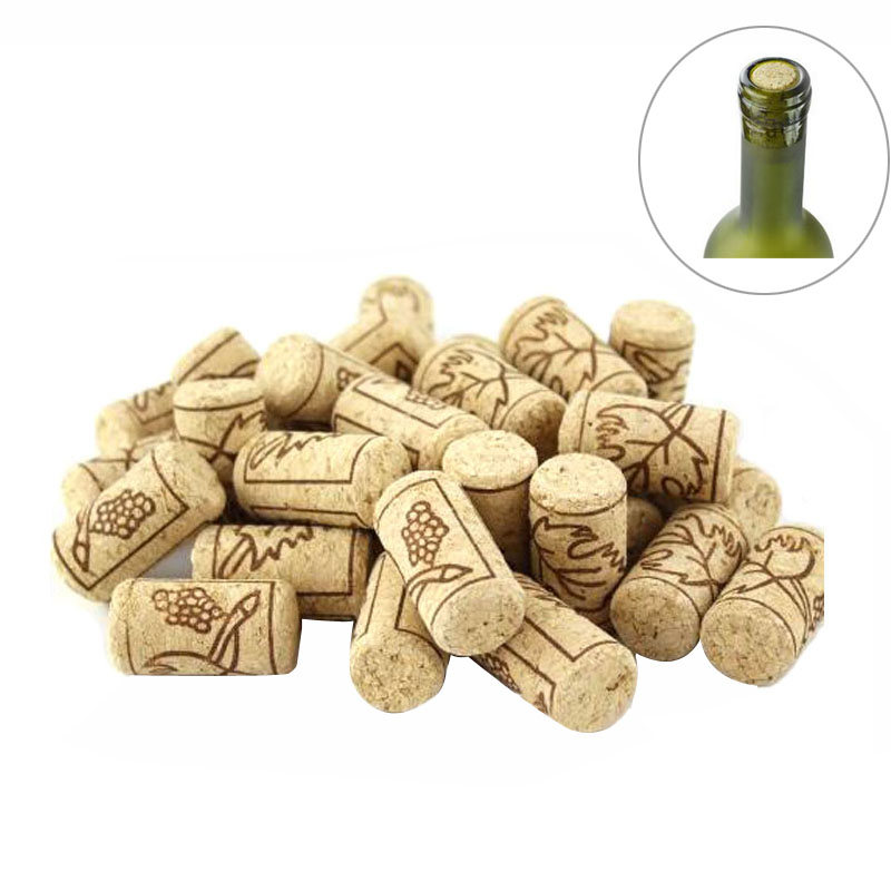 50pcs lot new unused straight natural cork wine bottle for Wine bottle material