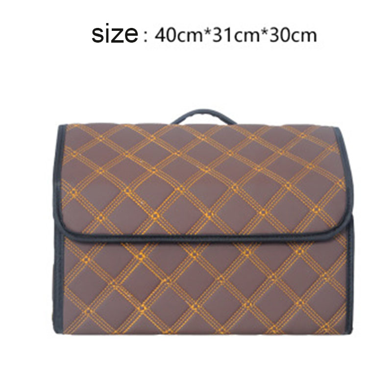 Image 5 - Car Trunk Box Storage Bag Organizer Foldable PU Leather Auto Durable Collapsible Cargo Storage Stowing Tidying-in Stowing Tidying from Automobiles & Motorcycles