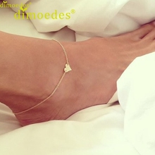 Diomedes Newest Simple Jewelry Anklets For Women Fashion Heart Ankle Bracelet Chain Beach Foot Jewelry