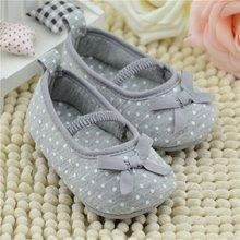 Nova Meninas Do Bebê Da Princesa Shoes Infantil Criança Berço Bebe Kids First Walkers Pontos Brancos Com Solado Macio Anti-Slip Shoes