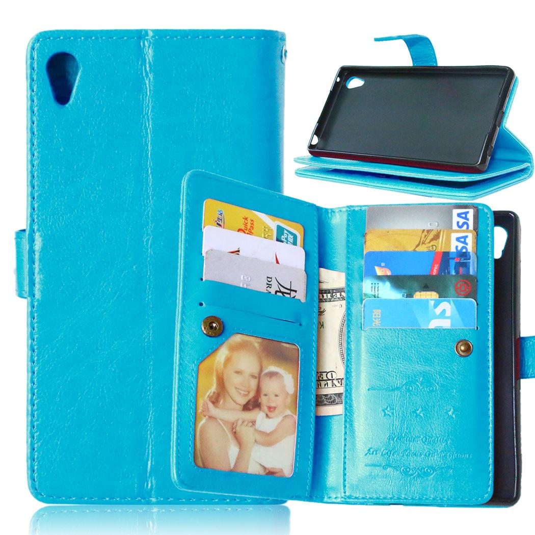 9 Визитницы Бумажник кожаный чехол для Sony Xperia Z4 Чехол Флип с  подставкой и фото Рамки Особенности мобильный Телефонные чехлы 9d8b8b578e6