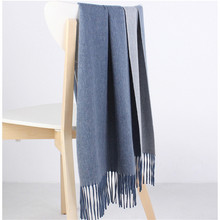 double face color 100%goat cashmere women fashion thick scarfs shawl pashmina 40x200cm beige blue 7color