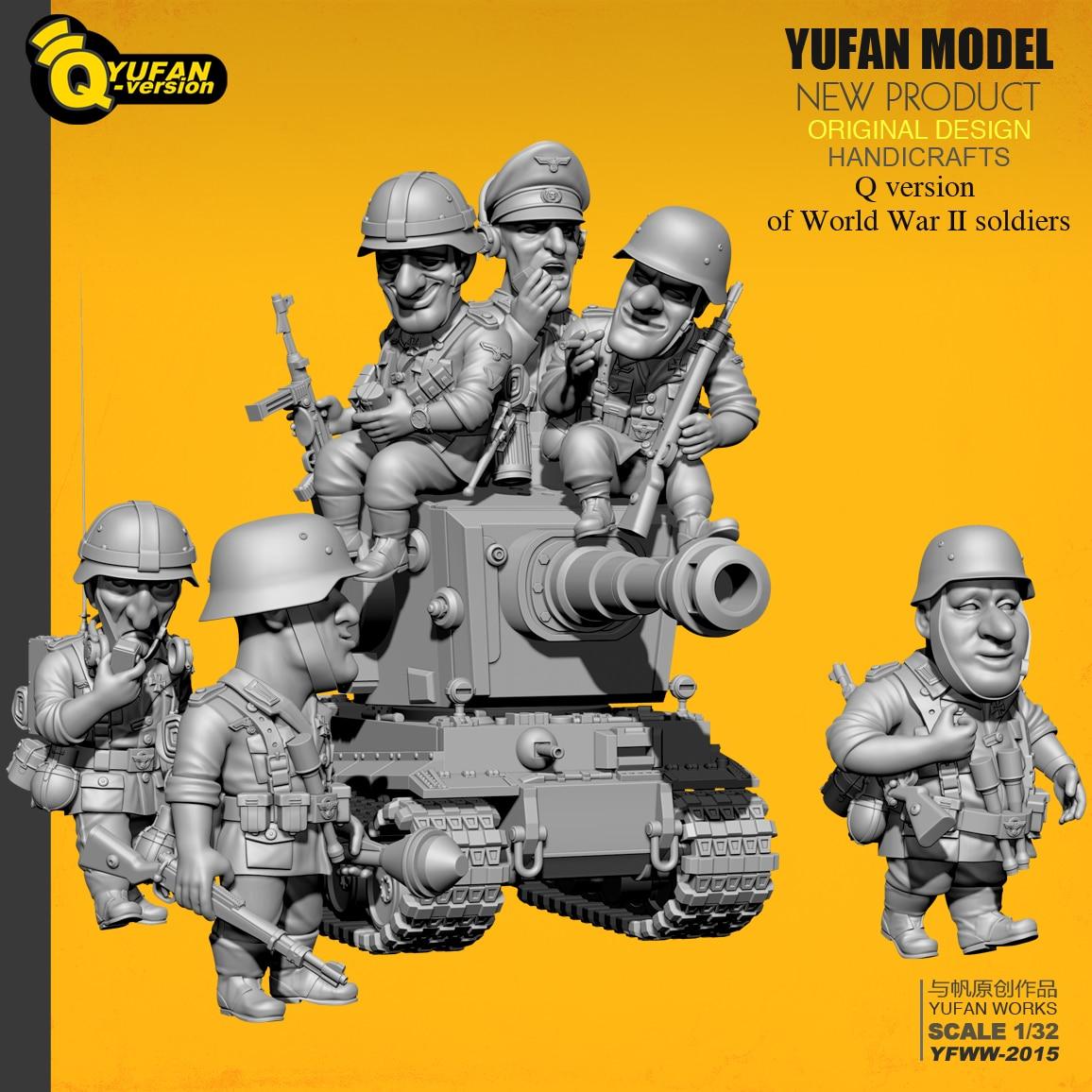 Yufan Model 1 32 Soldier Q version of the soldier 6 plus tank set Yfww 2015