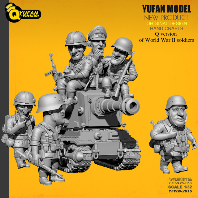 Yufan Modell 1/32 Soldat Q version der soldat 6 plus tank set Yfww 2015