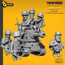 Yufan modelo 1/32 soldado Q versión del soldado 6 plus tanque set Yfww 2015