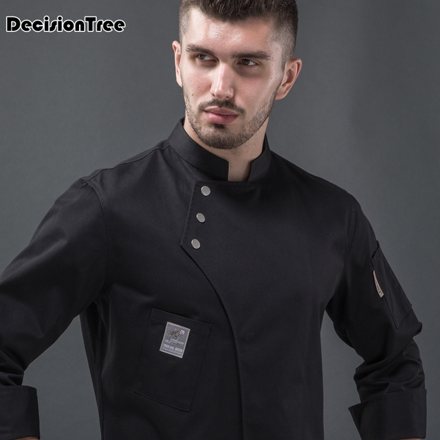 2019 new arrival  men kitchen restaurant cook workwear chef uniform multiple colour shirt double breasted chef jacket