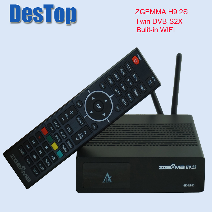 US $114 65 9% OFF|Official Version 4K UHD Set Top Box ZGEMMA H9 2S Linux OS  DVB S2X+S2X Twin Tuners HEVC/H 265 Decoding bulit in WIFI-in Satellite TV