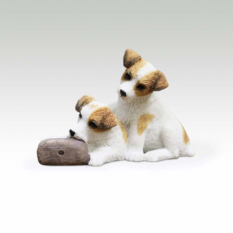 Mnotht 1/6 Jack Russell Terrier Dog Model Animal Dog Pet Sculpture Resin  Accessory Toy for Action Figure Collection Wedding Gift
