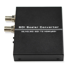 SDI Scaler Audio Video Converter SDI BNC to HDMI with SDI loop Adapter Support SD HD 3G-SDI Free Shipping one piece hdmi to sdi video converter one pieces sdi to hdmi video converter adapter bnc sdi hd sdi 3g sdi 2 970 gbit s