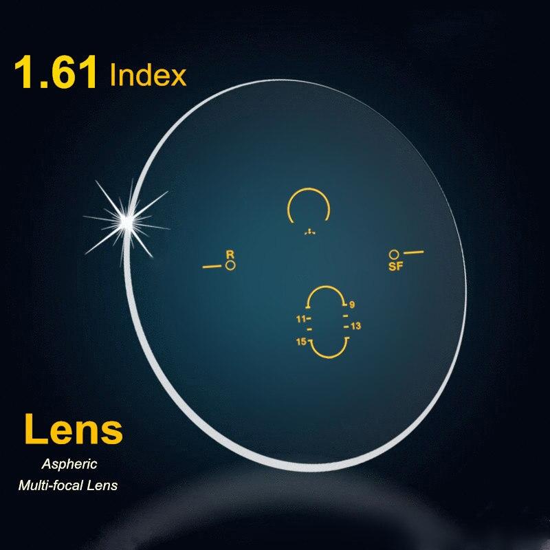 Lentilles progressives intérieures d'index 1.61 lentilles de Prescription de résine asphérique de lentille Multi focale de forme libre avec le revêtement vert 2 pièces