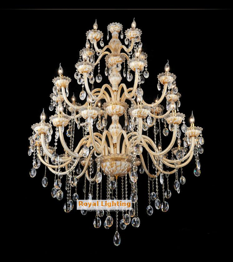 Roman Large painting Crystal Chandelier Led lamps star hotel 30 pcs - Indoor Lighting - Photo 5