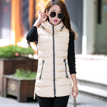 2017 New Woman Sleeveless Jacket Long Slim Thickening Warm Vestswomen Coat Female 6color Winter&Autumn Women Vest