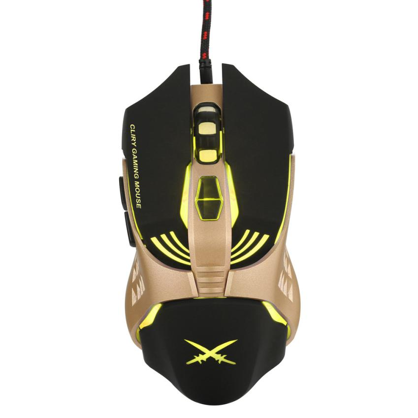 ECO HIPERDEAL Fashion Cool Mouse X2 USB Wired 4800dpi 7 Buttons Optical Gaming Mouse LED Backlight For PC May28