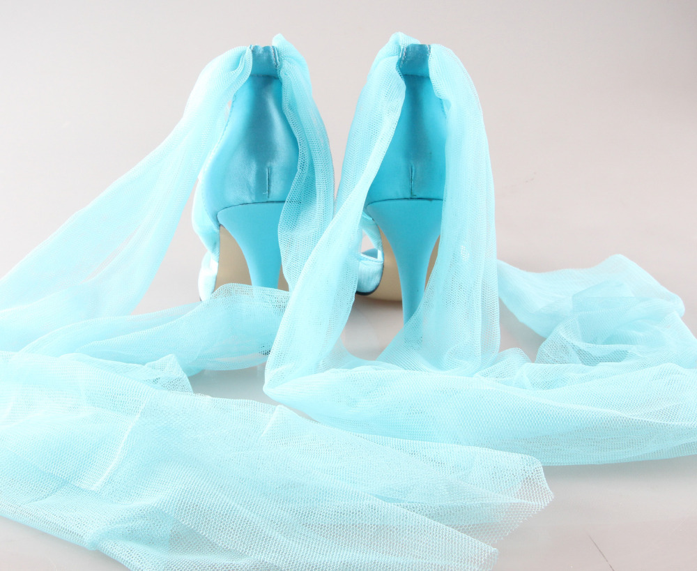 Creativesugar Handmade light mint green fairy bridal shoes tulle ...