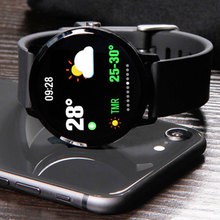 1.3 inch V11 ספורט חכם שעון צבע מזג אוויר IP67 עמיד למים שיחת/הודעה תזכורת קצב לב צג לחץ דם SmartWatch