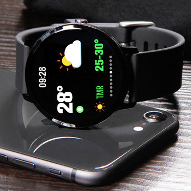 1,3 pulgadas deportes reloj inteligente Color tiempo IP67 impermeable llamada/mensaje recordatorio Monitor de ritmo cardíaco sangre presión SmartWatch
