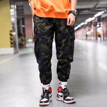 2019 Men Jogger Camouflage Summer Autumn Hip Hop Sweatpants Pants Men Harajuku Pockets Tactical Pants Overalls Casual Streetwear fashion brand denim jumpsuit men casual pants multi pockets hip hop overalls for men camouflage outdoors long trousers
