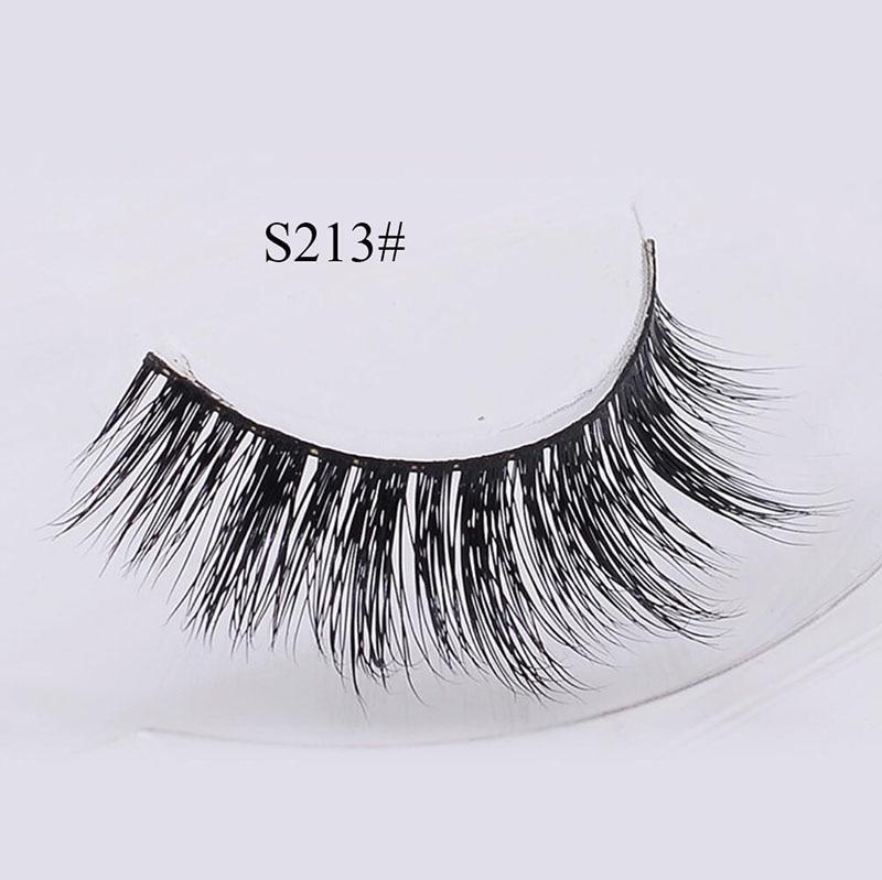 S213 3D Cross Long False Eyelashes Mink Hair Extension Wispy Fluffy Lashes Multilayer Full Strip Eye Lashes Makeup Tools