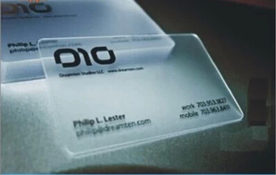 008 Plastic Transparent Pvc Business Card One Faced Printing Clear