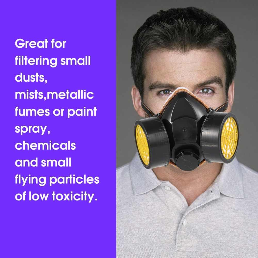 Black Gas Mask Emergency Survival Safety Respiratory Gas