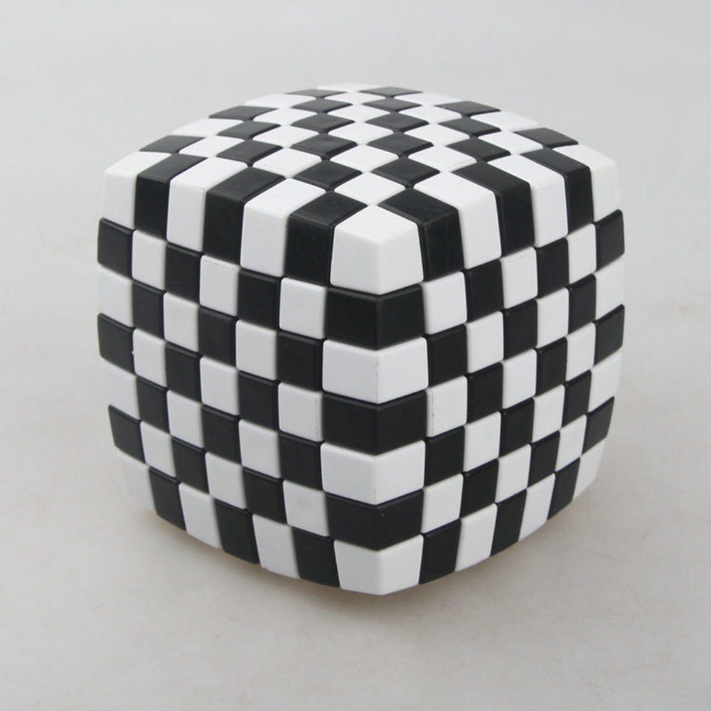 83mm Black-and-white Grid Curve7x7x7 Speed Magic Cubes Puzzle Game Educational Toys for Kids Children Baby dayan gem vi cube speed puzzle magic cubes educational game toys gift for children kids grownups