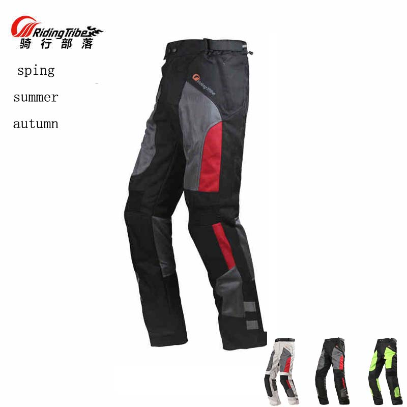 цена на 2017 Breathable mesh fabric Riding Tribe Motorcycle Pants, Motorbike Racing trousers with protector Knee hip M L XL 2XL 3XL 4XL
