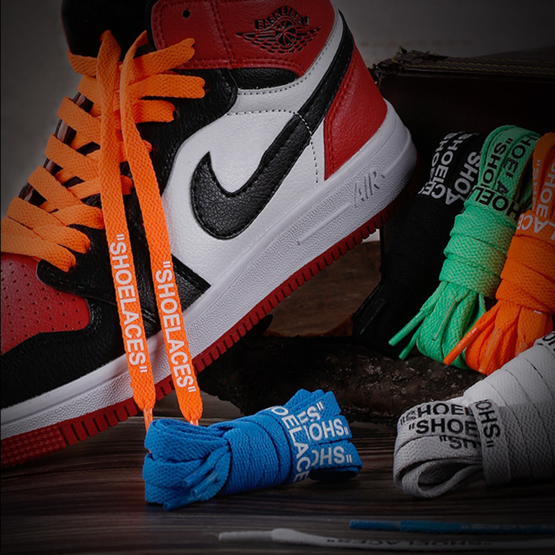 011449869c6c5 2019 Bestselling Off White Shoe Laces Flat Silicone Printing Shoelaces  47