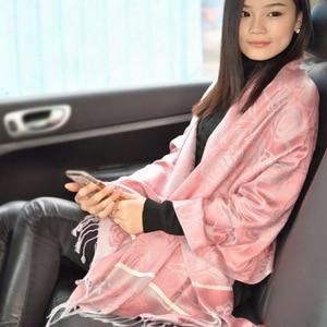 2018 Special Offer Top Fashion Women Adult Fashion Acrylic Winter Hijab High Quality Printing Rose Shawl Scarves Lady Female