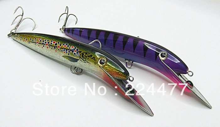Suspend type big fishing lures hard plastic for Types of fishing lures