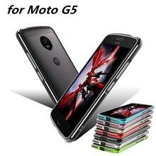 Чехол Для Motorola Moto G5 Роскошные Делюкс Ультратонкий алюминиевый Бампер Для Motorola Moto G5 XT1685 XT1672 Дело 5.0-дюймовый