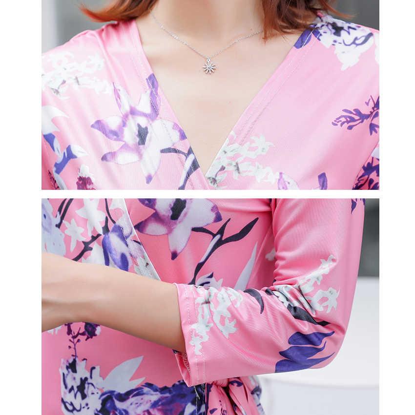 Для женщин летнее платье Бохо Цветочный принт с длинным рукавом роковой ete 2019 длинные платья с разрезом вечерние пляжное богемное платье дропшиппинг