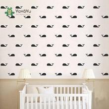 YOYOYU 30PCS A Set Marine Style Wall Decal Cartoon Decor Whale Fish Decoratio DIY sticker for kids YO069
