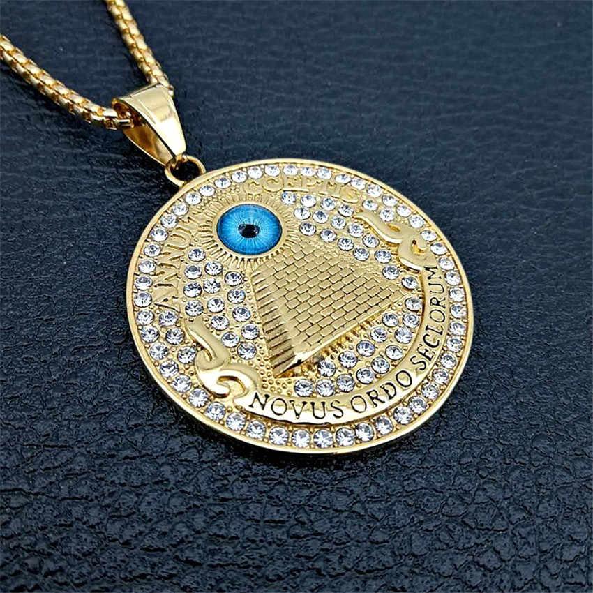 Vàng Kim Tự Tháp Ai Cập Cổ Mặt Dây Chuyền Cho Nam Đá Ra Khỏi Đá Mắt Cung Dây Chuyền Trang Sức Quà Tặng