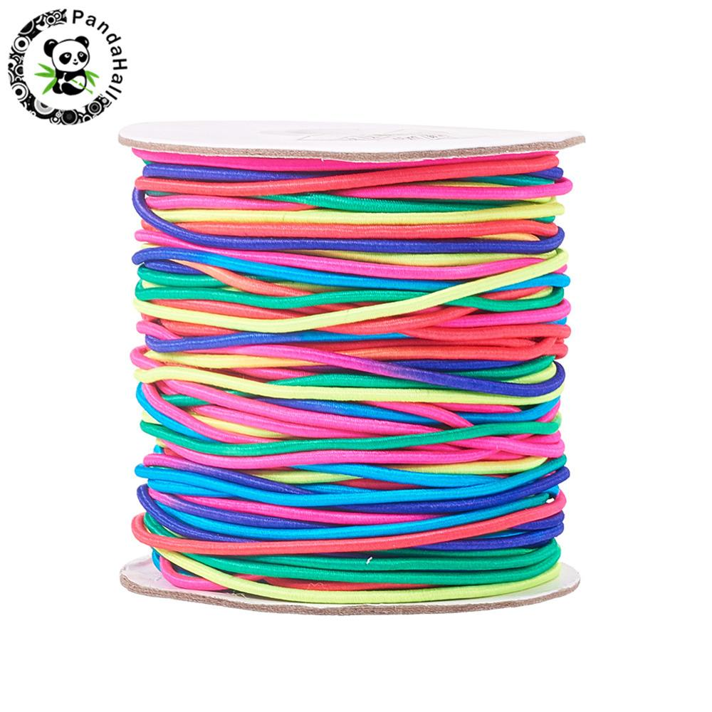 1mm Round Elastic Cord for Bracelet Necklaces Earrings Beading Jewelry Making DIY Black White Red Gold Green Colorful 100m/roll1mm Round Elastic Cord for Bracelet Necklaces Earrings Beading Jewelry Making DIY Black White Red Gold Green Colorful 100m/roll