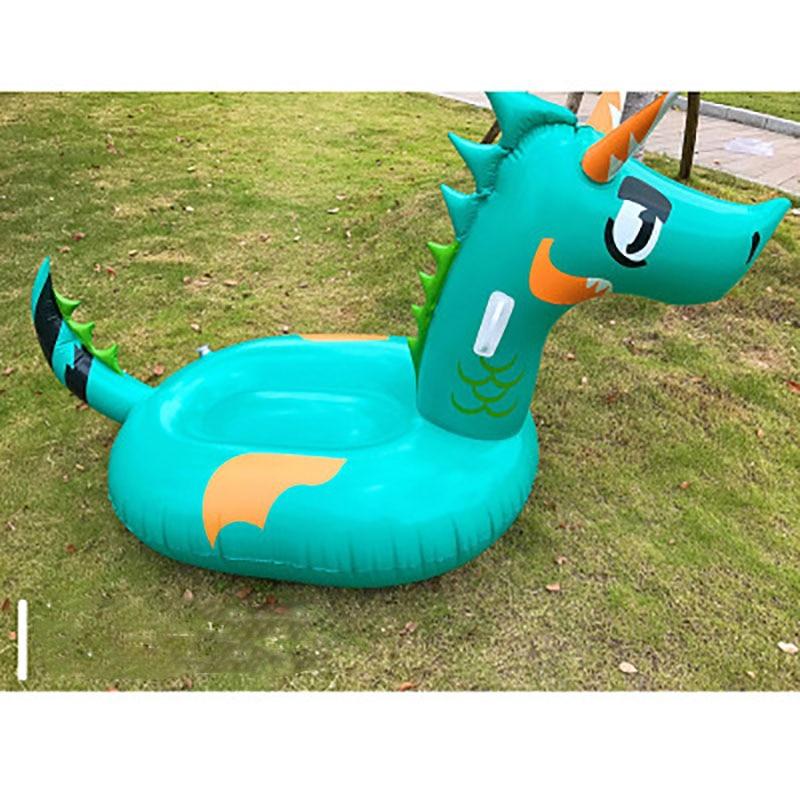 Nouveau flotteur de piscine géant gonflable pour enfants adultes dinosaure anneau de natation enfants Dragon vert matelas d'eau plage fête jouet