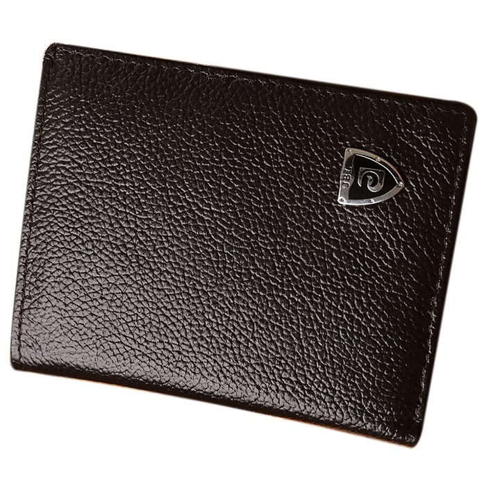VSEN Hot Hot Fashion Men PU Leather Wallets Short Design Stylish Business Card Holder Small Wallet Male Purse