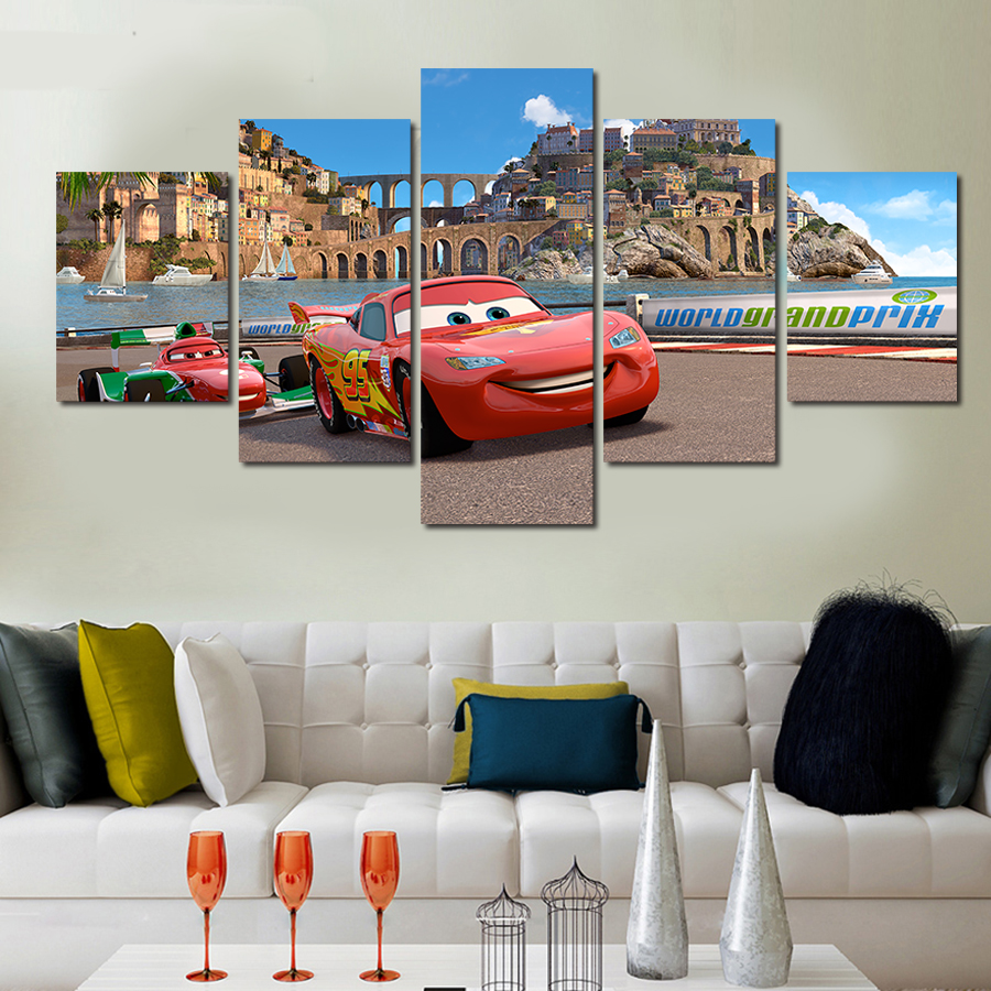 5 Piece HD Cars Photo Modern Home Wall Decor Canvas Picture Art HD Print Painting On Canvas Artworks Free Delivery High Quality