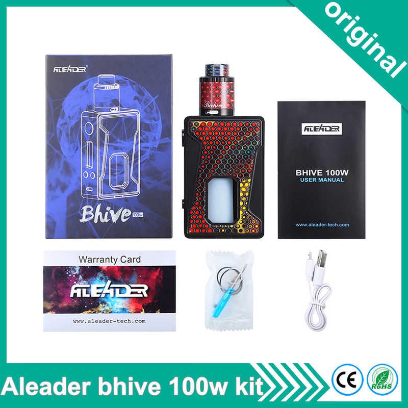 オリジナル Aleader Bhive 100 ワット BF sqounker mod キット樹脂電子タバコキット吸う RDA タンク 7 ミリリットルボトルフィット 18650 バッテリー用