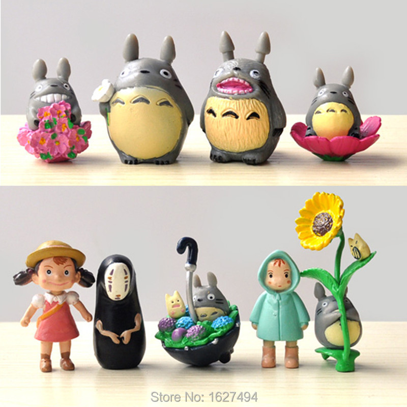 9pcs Studio Ghibli Anime Figure My Neighbor Totoro Toy Hayao Miyazaki Mini Garden PVC Action Figures Kids Toys For Boys Girls