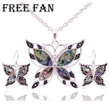 5de2a2b45843 Libre ventilador declaración Concha mariposa collar de Gargantilla conjuntos  clásica de amor Animal indio turco joyería collar p.
