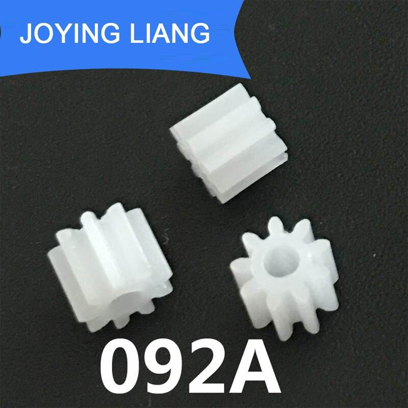 092A 0.5 M pignon 9 dents 2mm trou d'arbre en plastique motoréducteur module de roue 0.5 accessoires de jouets
