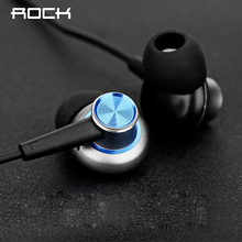 ROCK Y5 Luxury In Ear Stereo Earphone in line control with mic Headset 3.5mm Earbuds For iPhone Samsung With Microphone