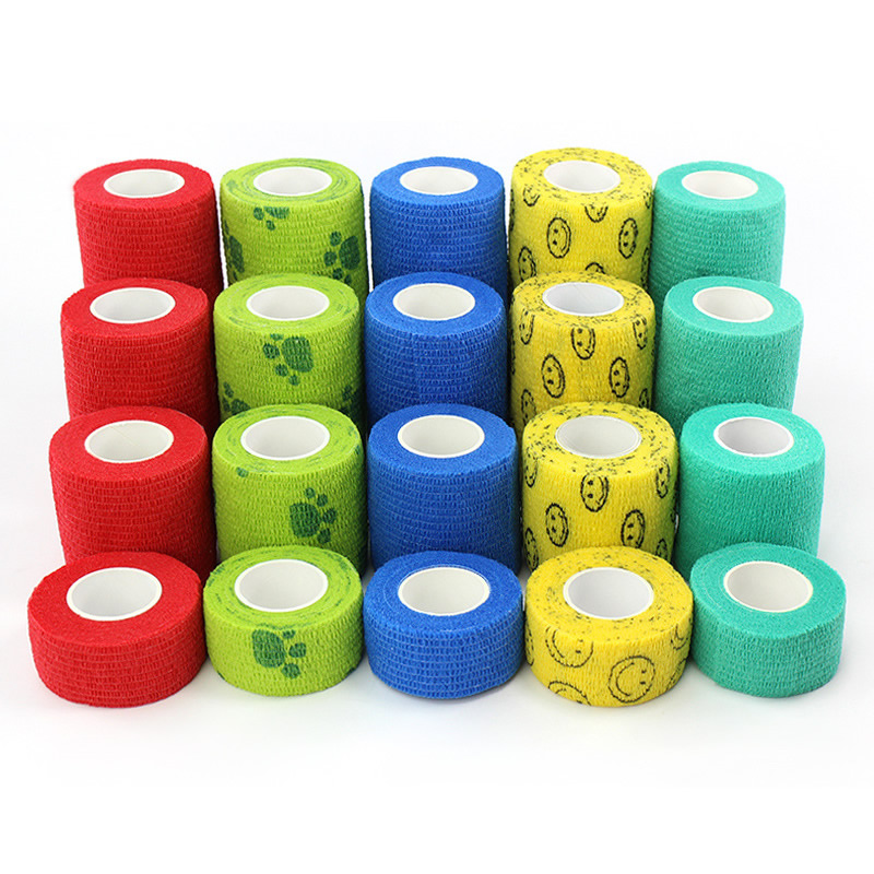 12pcs 2.5-15cm Self-adhesive Bandage Pet Elastic Cohesive Bandage Muscle Tape Medical Therapy Finger Joints Wrap First Aid Kit(China)